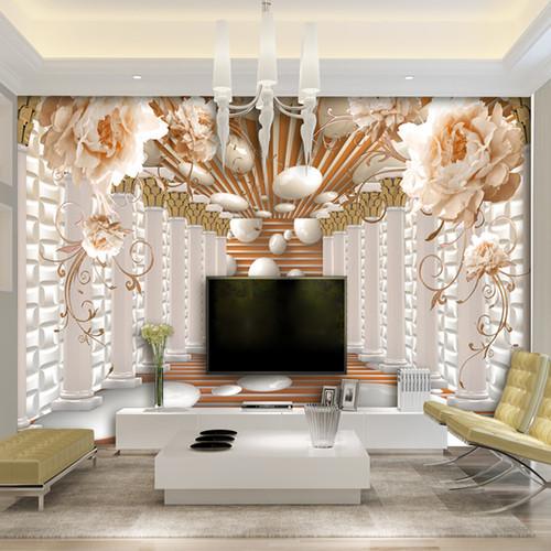 3D Wallpaper Modern Abstract Art Rome Column Flower Photo Wall Murals Living Room Study Backdrop Wall Paper Home Decor 3D Fresco