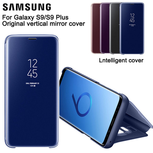 Samsung Vertical Mirror Protection Shell Phone Cover Phone Case For Samsung GALAXY S9+ Plus G9650 S9 G9600 Slim Flip Case