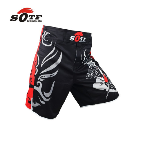 SOFT opera mask Chinese wind breathable fitness training battle mma shorts Tiger muay thai boxing shorts pretorian shorts mma