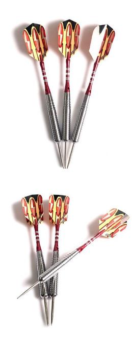 CUESOUL 3pcs/set Professional Darts Needle 21g 16cm Steel Tip Darts With Copper And Aluminum Dart Shaft Orange Flight