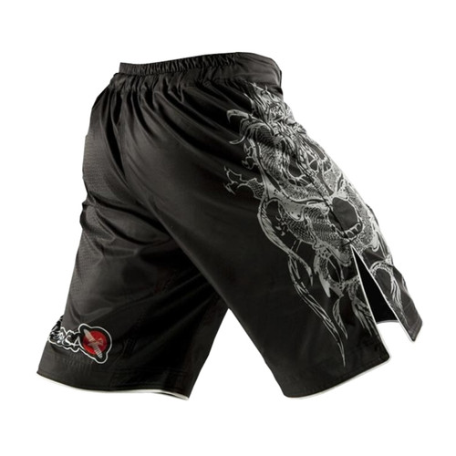 White dragon Eagle subtitles sports breathable cotton loose boxing training pants mma short kickboxing shorts short muay thai