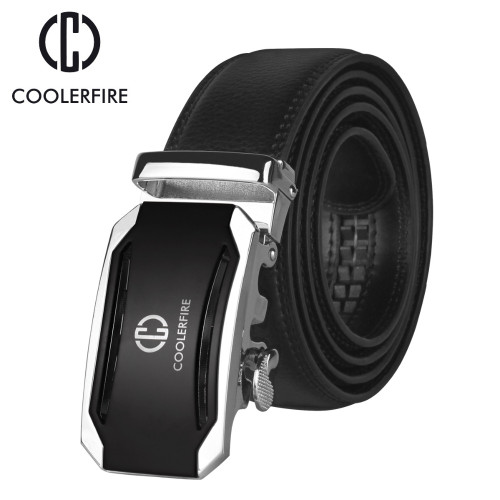 COOLERFIRE Famous Brand Belt Men Top Quality Genuine Luxury Leather Belts for Men,Strap Male Metal Automatic Buckle ZD053