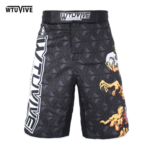 WTUVIVE MMA boxing sports fitness personality breathable loose large size shorts Thai fist pants running fights cheap mma shorts