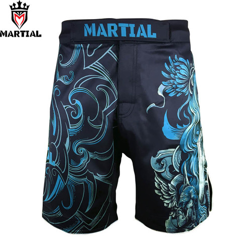 Martial: Virgo original design mma fight shorts grappling short kick boxing men gym shorts box fighting trunks