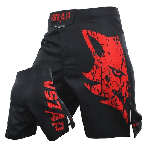 Hot men's MMA Fight Boxing Shorts Motion Clothing Cotton Loose Size Training Kickboxing Shorts Muay Thai MMA Shorts Mens Trunks