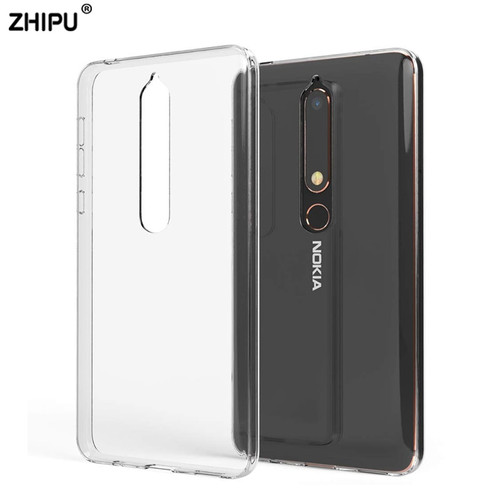 Case For Nokia 2.1 3.1 5.1 6.1 7.1 TPU Silicon Clear Soft Case for Nokia 3.1 Plus 5.1Plus 6.1Plus 7.1 Plus X5 X6 Back Cover
