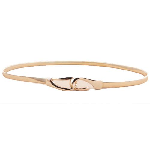 Women Ladies Gold Metal Chain Skinny Elastic Belt Stretch Dress Corset Waistband BLTLL0520
