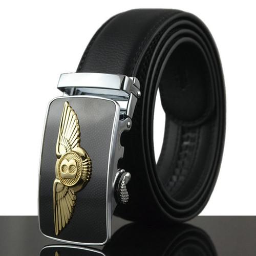 WOWTIGER Belt Men Luxury Famous Brand Designer Male Genuine Leather Automatic Buckle Belt Ceinture Homm