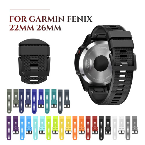 Soft Silicone Watchband for Garmin Fenix 5 Silicone Band 22mm Strap Quick Fit for Garmin Fenix 5X 3 3HR Band 26mm Watch Strap