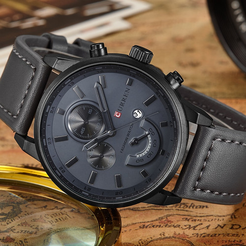 New Relogio Masculino Curren Quartz Watch Men Top Brand Luxury Leather Mens Watches Fashion Casual Sport Clock Men Wristwatches