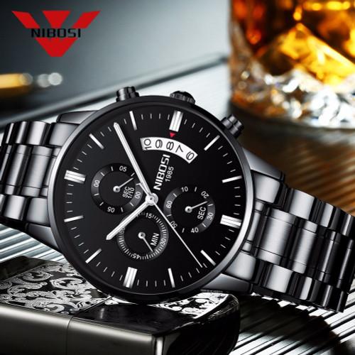 NIBOSI Relogio Masculino Men Watches Luxury Famous Top Brand Men's Fashion Casual Dress Watch Military Quartz Wristwatches Saat