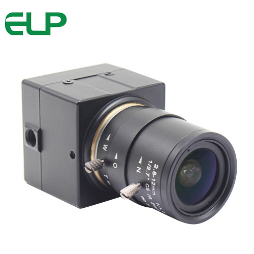 2MP Full HD CMOS OV2710 high speed 30fps/60fps/120fps Black and White Monochrome Usb Camera UVC with 2.8-12mm Varifocal lens
