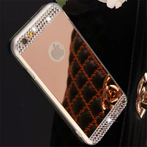 Mirror Cover Luxury 3D Bling Mirror Case Bling Crystal Cover For iphone XS Max X XR 6 6S 7 8 Plus 4 5 4s 5 5s SE Mirror Shell