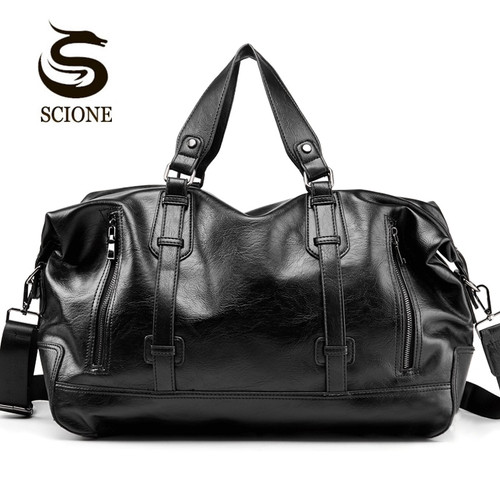 Fashion Men's Travel Bags Luggage Waterproof Suitcase Duffel Bag Big Large Capacity Bags Casual High-Capacity PU Leather Handbag