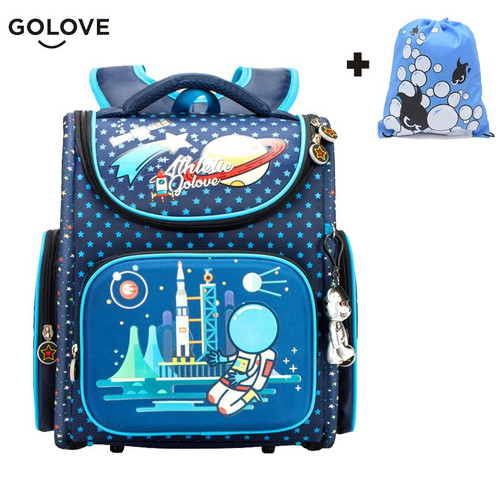 Golove Top Quality Children School Bags for Girls Boys Waterproof Orthopedic kids Backpacks floral School Bag Mochila Escolar