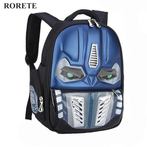 Transformers School Bag Children 3D Robot Backpack Kids Backpack Mochila Bag Waterproof Cartoon Boys Book Bag