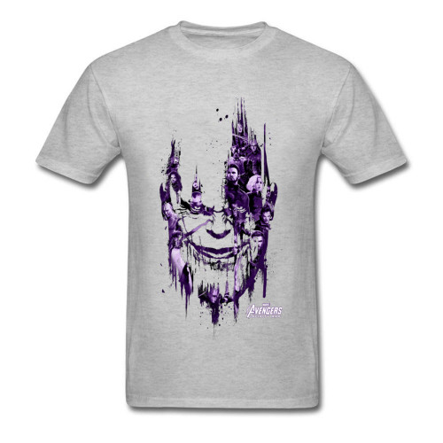 Powerful Thanos Tshirt Men Infinity War T Shirt USA Marvel Movie  Hiphop Avengers 3 T-Shirt New Hot Trendy Fashion Clothing