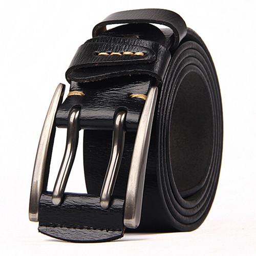 New Arrival Belt for Men Fashion Men Leather Belt Male Strap Waistband for Men 2017 Men Genuine Leather Belt 4.0cm width