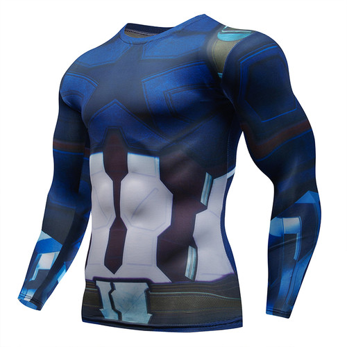 Avengers 3 Iron Man 3D Printed T shirts Tony Stark Compression Shirts 2018 Marvel Captain America Tights Men Gyms Rashguard Tees