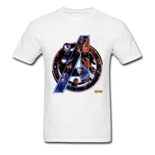 Hot Marvel T Shirt Avengers 3 Mens Superhero League Tshirt Infinity Attack War T-Shirt Heal The World Strength T Shirts Men
