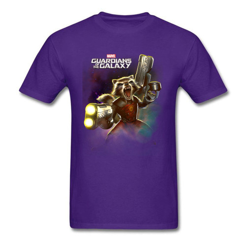 Marvel Rocket Raccoon T-shirts Men Tee-Shirts Lovers Day Tops Black T Shirt Short Sleeve Newest Cotton Printed Party Clothes