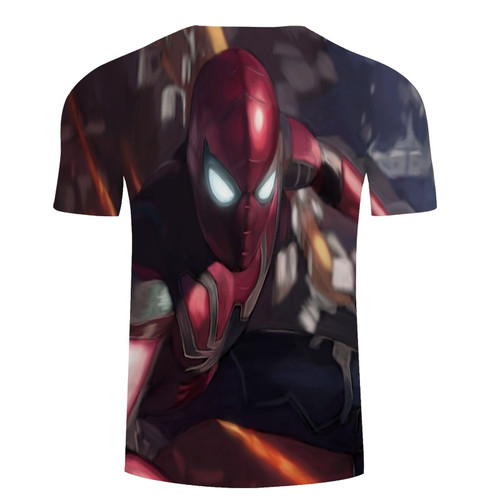 2018 Avengers 3 Iron spider man 3D Print T-shirt Men/Women Marvel Superhero T shirt fitness Clothing Man's quick-dry tee shirt