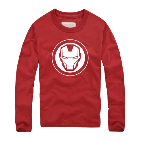 2018 Marvel Super Heroes Avenger brand Clothing Autumn Fitness T shirts America Super Hero Iron Man Printed Long Sleeves T-shirt