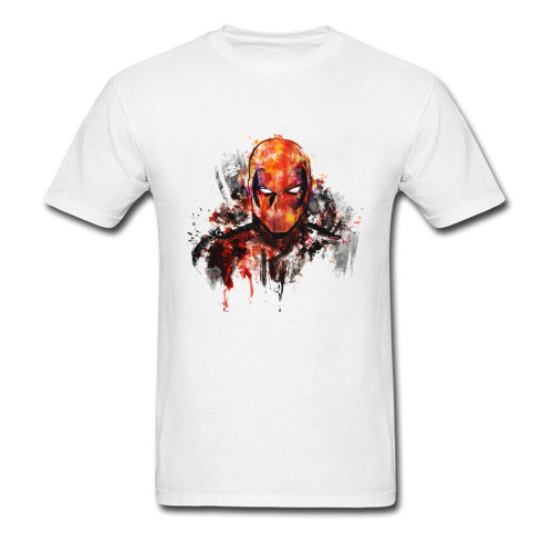 Marvel Deadpool T Shirt Men Watercolor Painting Art Designs Tee-Shirt Dead Pool Daredevil T-Shirt Superhero Tshirt New Fashion