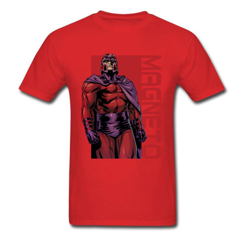 Tshirt Men Tops Shirt Cotton Unique T-shirts Casual Marvel Magneto Stare T Shirt Wholesale NEW YEAR DAY Short Sleeve Clothes