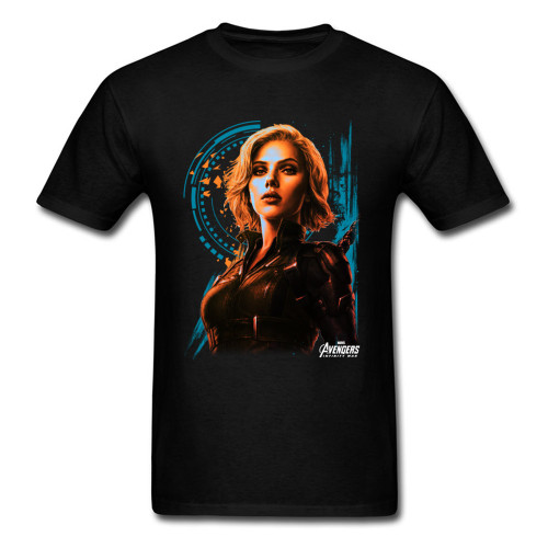 Agent Widow T Shirt Avengers T-shirt Men Infinity War Tshirts Marvel Sexy Woman Clothing Legend Hero 80s Tops Tees