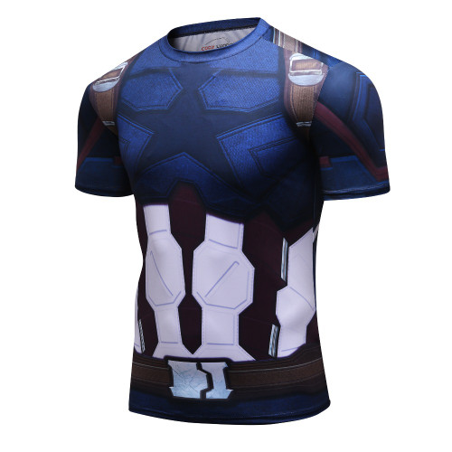 New Summer Avengers 3 3D T Shirt Men Marvel Superhero Men T-Shirt Compression Crossfit Short Sleeve Brand Fitness MMA Tops&Tees