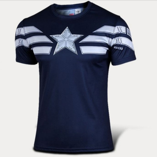 Avengers 2 Captain Super Heroes Short Sleeve t-shirt Summer Style Large Size Marvel t shirts Mens