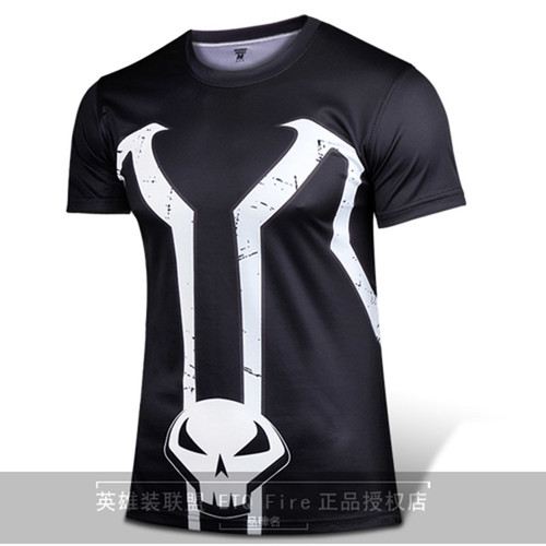 Marvel Comics Super Heroes Spawn T Shirt Costume Short Sleeved Spawn Shirt