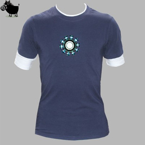 Men Marvel Emitting Luminous Exclusive design 100% Cotton short Sleeve t-shirt Men Iron Tshirt Homme Superhero Tees