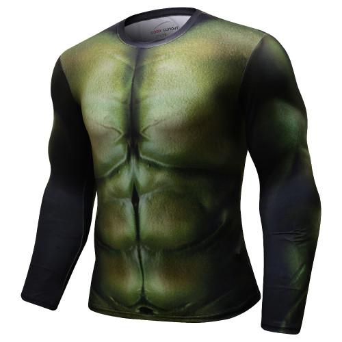 New Summer 3D Avengers 3 Hulk T Shirt Men Marvel Superhero Men T-Shirt Compression Crossfit Long Sleeve Fitness MMA Tops&Tees