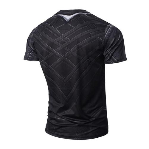 2018 T'Challa Uniform Legends - Pantera Black Panther 3D Print T-shirt Sexy Tights Short Shirts Summer Homme Tops Marvel 3XL