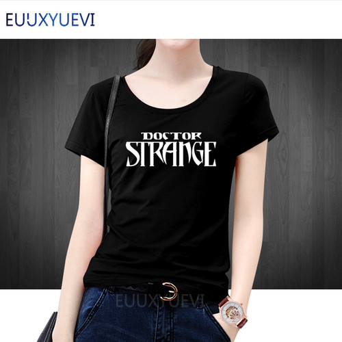 Doctor Strange T Shirts Women Summer Short Sleeve O-neck Cotton Doctor Strange Marvel T shirt Woman Fashion T-shirt Tees e-328