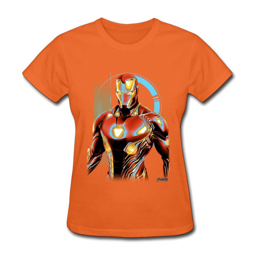 Power Ironman Woman Tshirts Spiderman Latest Summer Autumn O Neck Pure Cotton Tops T Shirt Cool Tony Stark Tshirt Marvel