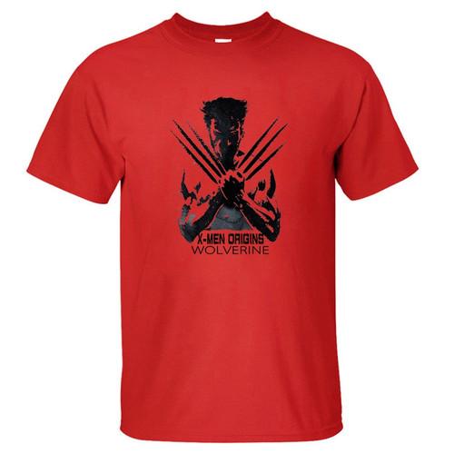 Super Hero Clothing Wolverines T Shirt Men Boy Cotton T-Shirt Marvel Movie Figure Tshirt