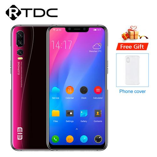"Elephone A5 6.18"" 18.7:9 Android 8.1 P60 MT6771 Quad-core 4GB RAM 64GB ROM 12MP+20MP Face Unlock Fingerprint 4G OTG Mobile Phone"