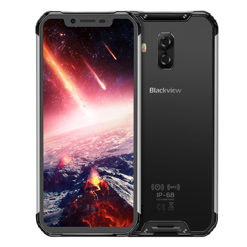 """Blackview BV9600 Pro Helio P60 Android 8.1 6GB+128GB Mobile Phone IP68 Waterproof 6.21"""" 19:9 FHD AMOLED 5580mAh NFC Smartphone"""