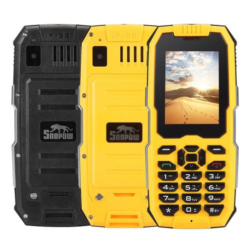 "- SNOPOW M2 Plus 4G LTE IP68 Waterproof Rugged Phone 2.4""TFT Android 6.0 MT6737V/WM Quad Core 1+8GB 2500mAh Smartphone FM GPS"