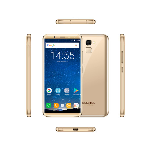 OUKITEL K5000 5.7-inch 4G-LTE Fingerprint Smartphone 5000mAh 4GB RAM 64GB ROM 720*1440P Android 7.0 Front 21MP Back 16MP