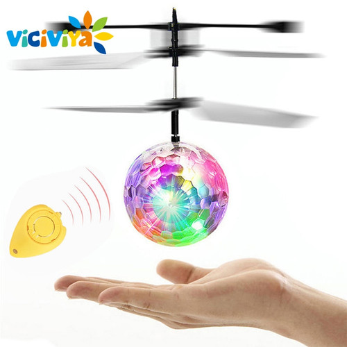 VICIVIYA RC Toy EpochAir RC Flying Ball RC Drone Helicopter Ball Built-in With Shinning LED Lighting Remote Control For Kids
