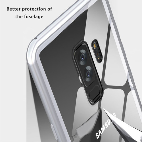 Magnetic Adsorption Metal Hard Case For Samsung S9 Plus S9+ Magneto Back Cases Cover for Samsung Galaxy S9 S 9 8 S8 Plus Note 8