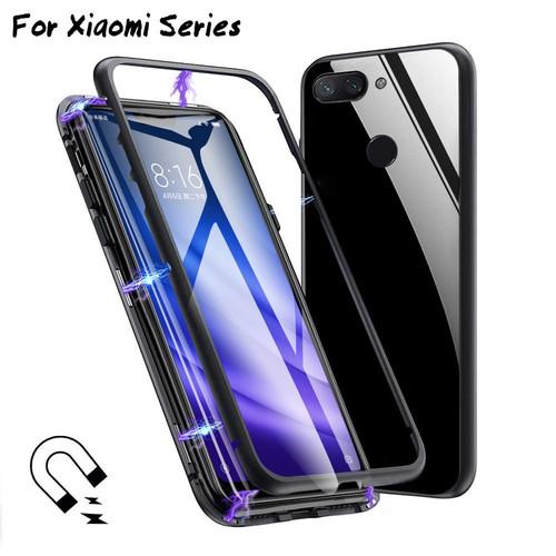 For Xiaomi Mi 8 Mi8 Lite 8lite Case Aluminum Metal Magnetic Adsorption xiomi pocophone pocofhone poco f1 Case Cover Shell coque