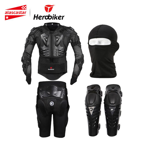 Motorcycle Amor Body Protection Motocross Protective Gear Racing Full Body Armor+ Gears Short Pants+Motocycle KneePad