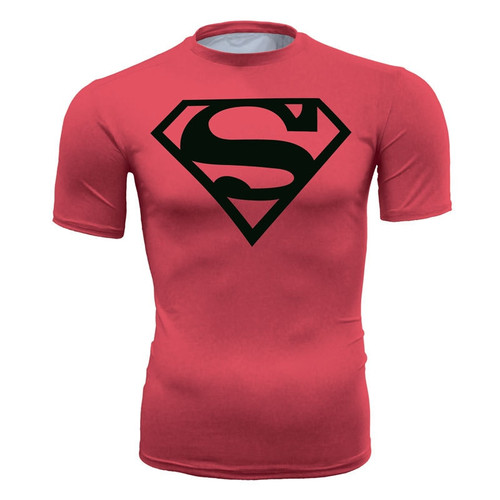 3D Superhero Superman Printed Costume Cycling Tee Sports T-shirts Tight Bicycle Fitness Stretch Tight Bicycle Jersey Shirt