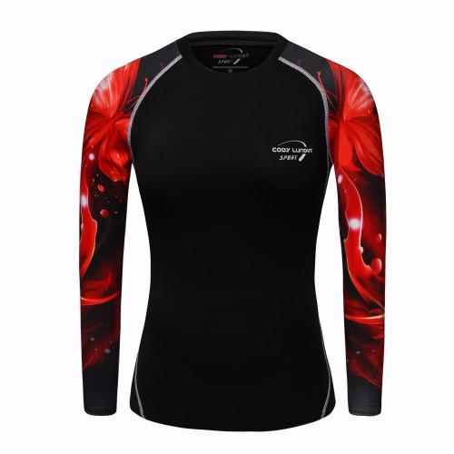 Women T-shirt Bodys Armour Marvel costume superman/batman T Shirt Long Sleeve Girl Fitness Tights Compression t shirts