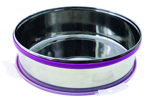 Steel Khakhra box with vacuum lid (Vacuum Steel Khakhra box)